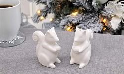 Ceramic Squirrel Design Salt & Pepper Shakers 2pc. Set
