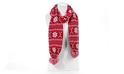 Knit Scarf with Snowflake Design
