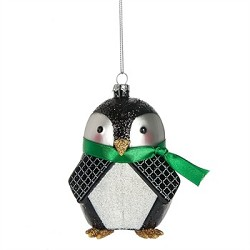 Geometric Modern Penguin Ornament