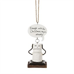 "S'mores ""Enough With the Christmas Music Already!"" Ornament"