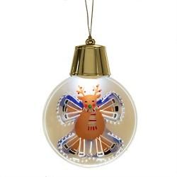 Lighted LED Flashing Reindeer Ornament
