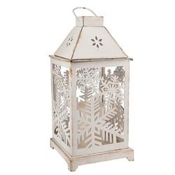 Lighted LED Snowflake Lantern