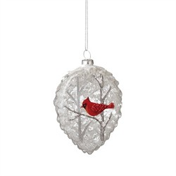 Cardinal Teardrop Ornament