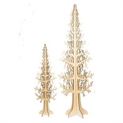 Laser-Cut Wood Trees Set of 2