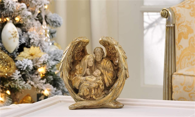 Polyresin Holy Family Figurine,653431
