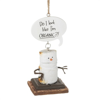 "S'mores ""Do I Look Like I'm Organic?!"" Ornament,111732"