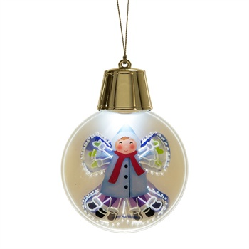 Lighted LED Flashing Snow Angel Ornament,127792