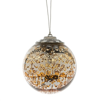 LED Ball Ornament Gold,127831