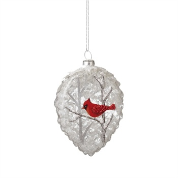 Cardinal Teardrop Ornament,121181