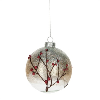 Red Berry Ball Ornament,124464