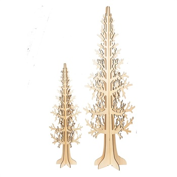 Laser-Cut Wood Trees Set of 2,128342