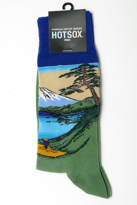 Men's Mt. Fuji Over a Lake Socks,HM400019